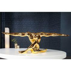 Modern beeld gespierde atleet 65 cm goud - 36401