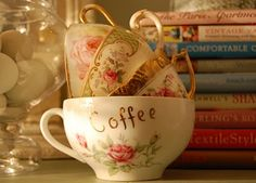 Cups and books