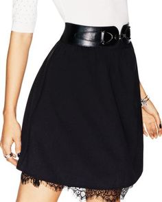 SS Skirt with lace trim