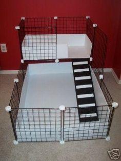 C & C idea- more floor space if possible though Hedgehog Cage, Diy Hedgehog House, Guniea Pig, Diy Bunny Cage, Bunny Cages, Rabbit Cages, Guinea Pig Cages, Hamster Cages, Harvey Rabbit