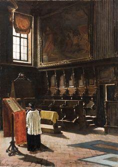 Artgate Fondazione Cariplo - Segantini Giovanni, Il coro della chiesa di Sant'Antonio in Milano - Giovanni Segantini - Wikipedia
