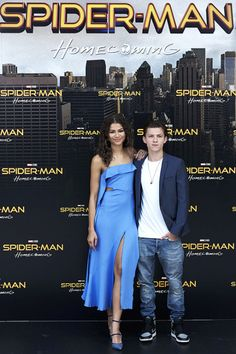Zendaya and Tom Holland attends Spider-Man:...