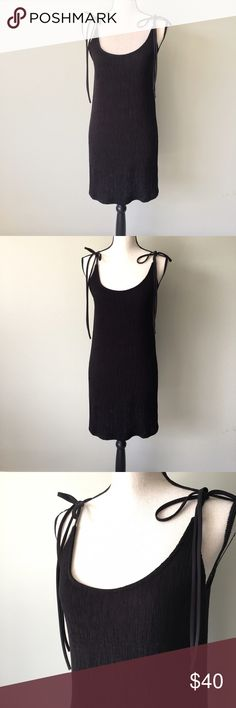Kendall & Kylie Black Ribbed Dress - M NWT beautiful black dress perfect for the summer. The straps are tied so it can be made as long as you want or as short as you want. Length can change depending on how you want to tie it. Kendall & Kylie Dresses