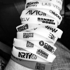 good idea- collecting bracelets for each concert you've gone to