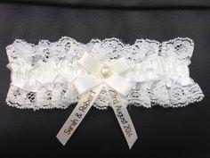 Personalised Wedding Garter