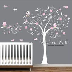 Decals Stickers Vinyl Wall Decal Tree Branch Owls door Modernwalls