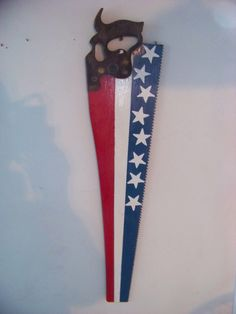 Items similar to American flag handsaw on Etsy Americana Crafts, Patriotic Crafts, July Crafts, Holiday Crafts, Patriotic Party, American Decor, American Flag, American Pride, Crafts To Make