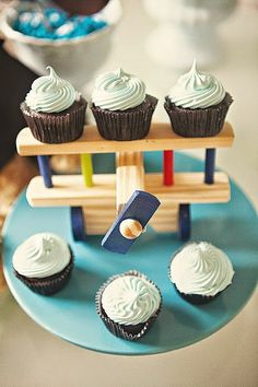 aviator baby shower aeroplane cake stand