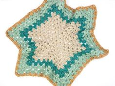 Crochet hexagon jacket--free pattern from Make and Do Crew using Lion Brand New Basic 175 yarn.