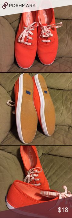 Bright coral/orangish keds size 91/2. Worn once. Size 91/2 bright coral/orangish keds.  Worn once....excellent used condition. Keds Shoes Sneakers
