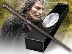 Harry Potter The Wand of Fenrir Greyback with Name Clip Stand