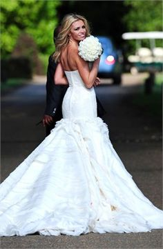 Abbey Clancy at her wedding to Peter Crouch