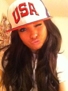 tell me girls can't rock snapbacks!!!!!! f u