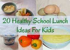 20 Healthy School Lunch Ideas For Kids from Green Stay at Home Mom! :)