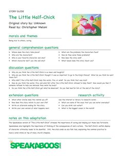 Lesson Plans: The Little Half-Chick | Speakaboos #Worksheets #education #lessons #kids #learning