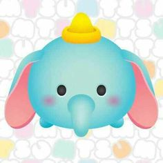 Image about cute in 😃tsum tsum ≧v≦○ by vivian ♪ Tsum Tsum Party, Disney Tsum Tsum, Disney Pixar, Tsum Tsum Wallpaper, Disney Wallpaper, Cute Disney, Baby Disney, Tsum Tsum Characters, Baby Dumbo