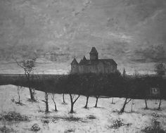 'The Castle of Blonay'. Gustave Courbet
