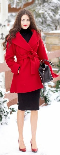 Red Great Coat Lovely Inspiration