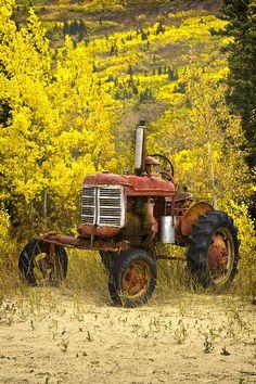 Old Farm Tractor Photograph - Old Farm Tractor Fine Art Print