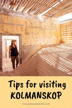 Kolmanskop is a ghost town that lies abandoned in the desert and reclaimed by sand. Here are a few tips for visiting the deserted town in Namibia. Namib Desert, Sport Hall, Wide Angle Lens, Ghost Towns, Unique Photo, Taking Pictures, Tour Guide, Abandoned, Travelling