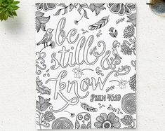 Bible Verse Adult Coloring Pages View Bcoloring Verses B Quotes By Coloringpage On Etsy