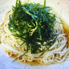Simple dish - Some nice noodles with seaweed shavinges