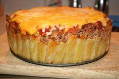 Taco Pie In A Springform Pan Recipe