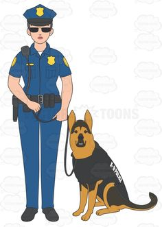 Female Police Officers | Female Police Officer Standing With Her K9 1