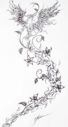 Firebird- Tattoo request from a friend by JenovaTheGoddes