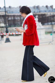 nailed it. Leandra rocking red in Paris. #LeandraMedine #ManRepeller