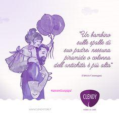 Ci protegge, ci guida, ci ama… L'amore di un padre verso i figli non conosce limiti e sacrifici.  #clendy #amore #citazioni #quotes #aforismi #papà #love  www.clendy.it