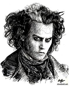 Sweeney Todd Johnny Depp Demon Barber by chuckhodi
