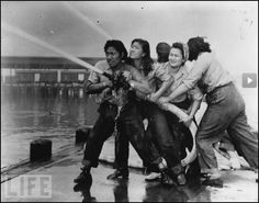 Women firefighters after the attack on Pearl Harbor.