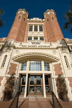 Grace performed here-Inside of the Westcott Building, you can find the beautiful Ruby Diamond Auditorium. Florida State University, Duke University, Florida State Seminoles, Colleges In Florida, Tallahassee Florida, Travel Ads, College Campus, Alma Mater, Florida Travel