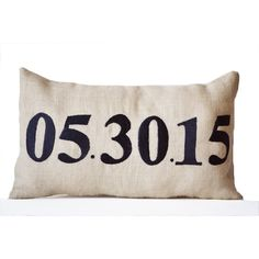 Amazon.com: Amore Beaute Handmade Decorative Pillow Case -... (2,585 INR) via Polyvore featuring home, home decor, personalized home decor, handmade home decor, handcrafted home decor and burlap home decor