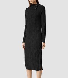 Womens Malin Dress (Cinder Marl) - product_image_alt_text_2