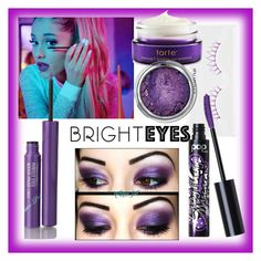 """Purple eyes"" by ronna-wyse on Polyvore featuring beauty, shu uemura, TONYMOLY, tarte, Pop Beauty and brighteyes"