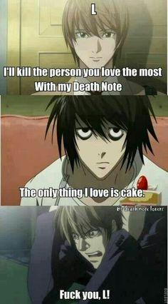 Hahahaha Yeah L love cake! :))