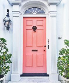 Pink Front Door Meaning.What Does Your Front Door Color Say About You Southern . Coloring The Front Door: Meanings And Inspiration. Painting Our Front Door With Farrow Ball Shining On Design. Home and Family Interior Exterior, Home Interior, Exterior Design, Love Home, My Dream Home, Future House, My House, Home Design, Design Ideas