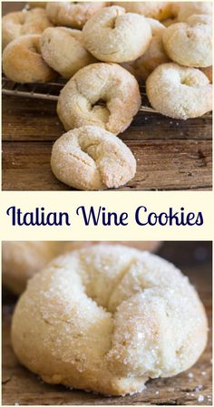 Wine cookies ciambelle al vino a delicious crunchy not too sweet Italian fall cookie made with white wine. Fast and easy. Wine cookies ciambelle al vino a delicious crunchy not too sweet Italian fall cookie made with white wine. Fast and easy. Italian Cookie Recipes, Italian Cookies, Baking Recipes, Italian Wedding Cookies, Italian Wine Cookies Recipe, Italian Foods, Easy Italian Desserts, Easy Recipes, Italian Ricotta Cookies