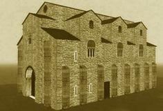 San Miguel de Lillo. Oviedo, siglo IX. Reconstrucción de su aspecto original.
