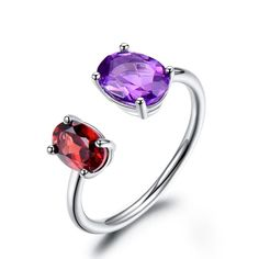 Amazing 1.5 Ct Amethyst 925 Sterling Silver Ring Taille 5-10