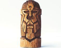 Scandinavische goden Set. Houten beelden: Odin Thor Freya
