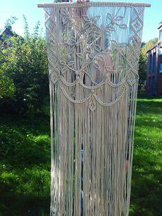 Wedding backdrop - Macrame curtain - Macrame wall hanging - Wall decor - Makramee - Boho decor - Wandschmuck - Wall art - Doorway curtain This macrame is designed and handmade by INStudioArt. Lovely handcrafted Macrame is made of 100% Cotton cord. This macrame can be used as wedding