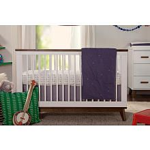 Scoot 3-in-1 Convertible Crib with Toddler Bed Conversion Kit - White and Walnut (450) sale is 400; converts to toddler bed
