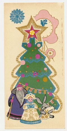 Vintage Christmas matchbox