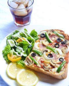 Love Pizza, I Foods, Vegetable Pizza, Food Inspiration, Rio, Toast, Bread, Shape, Vegetables