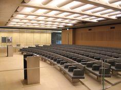 Auditorium Architecture, Auditorium Design, Auditorium Seating, Space Interiors, Office Interiors, Cinema Chairs, Function Room, Church Building, Dezeen
