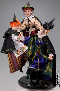 Dancing Witches. One-Of-A-Kind doll from Characters Gallery. Artist Tanya Abaimova
