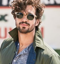 "lovingmalemodels: ""Paul Kelly by Ben Watts for Bonobos "" Men Haircut Curly Hair, Long Curly Hair Men, Male Haircuts Curly, Mens Hairstyles With Beard, Boy Hairstyles, Hair And Beard Styles, Curled Hairstyles, Haircuts For Men, Long Hair Styles"